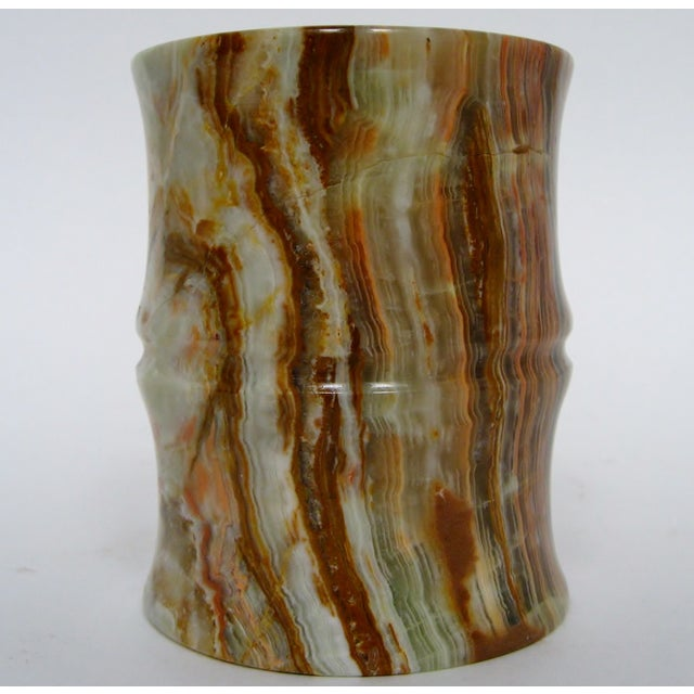 Carved Agate Pen Holder - Image 6 of 8