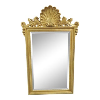 Ethan Allen Italian Shell Carved Gilt Mirror For Sale
