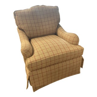 Taylor King Swivel Arm Chair For Sale