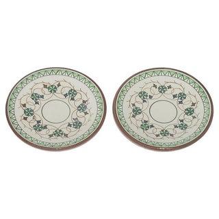 European Terracotta Tapas / Olive Oil Dishes - Pair