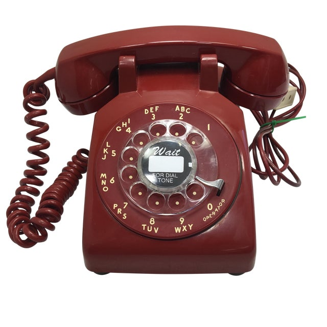Western Electric Red Rotary Dial Telephone For Sale