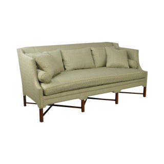 Trs Fine Quality Custom Upholstered 8-Leg X Stretcher Base Sofa For Sale