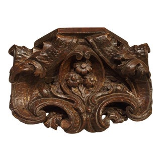 Small Antique Carved French Wall Bracket, 19th Century For Sale