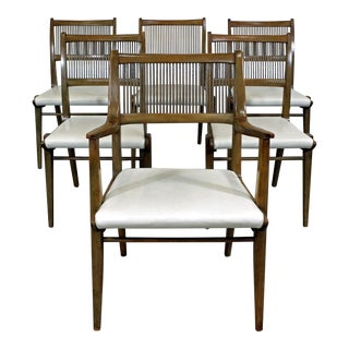 Set of 6 Mid-Century Modern John Van Koert Drexel Profile Dining Chairs For Sale