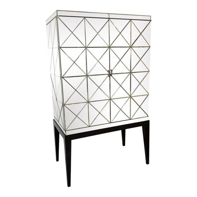 John-Richard Vintaged Mirror Bar Cabinet For Sale
