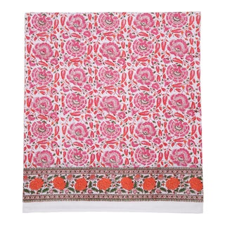 Riyad Fitted Sheet, Queen - Pink & Orange For Sale