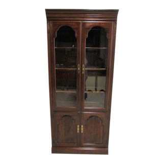 Ethan Allen Georgian Court Chippendale Curio For Sale