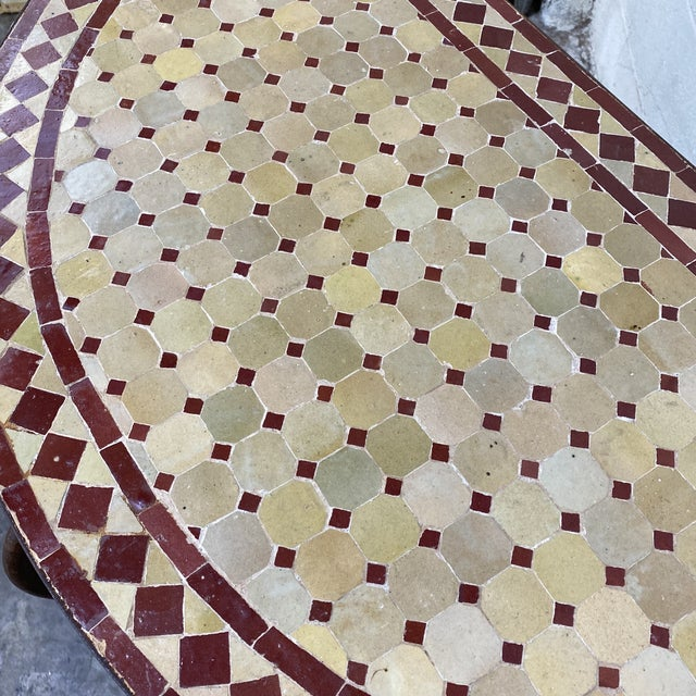 Terra-Cotta Mosaic Tile and Iron Console For Sale In Richmond - Image 6 of 11