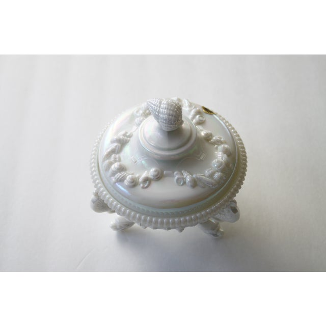 Hollywood Regency Westmoreland Footed Seashell Candy Dish For Sale - Image 3 of 8