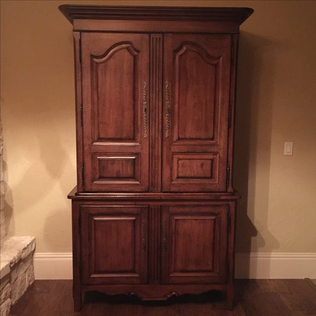 Lexington Traditional Large Cherry Wood Armoire - Image 2 of 10