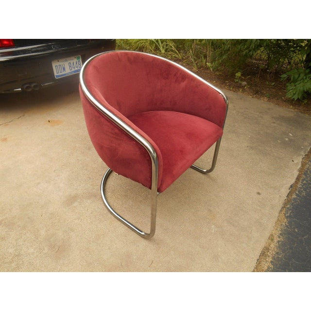 Mid-Century Thonet Cantilever Barrel Chair - Image 2 of 8