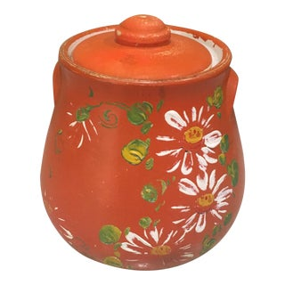 Orange Floral Cookie Jar