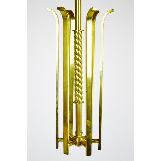 Art deco brass chandelier body chairish art deco brass chandelier body image 5 of 12 mozeypictures Image collections