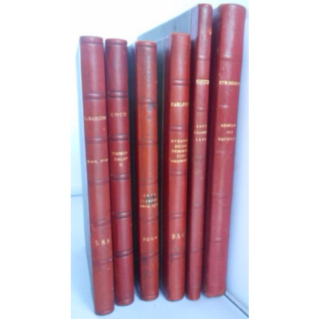 It is a very rare situation to find books published in different years, yet have identical leather bindings. These will...
