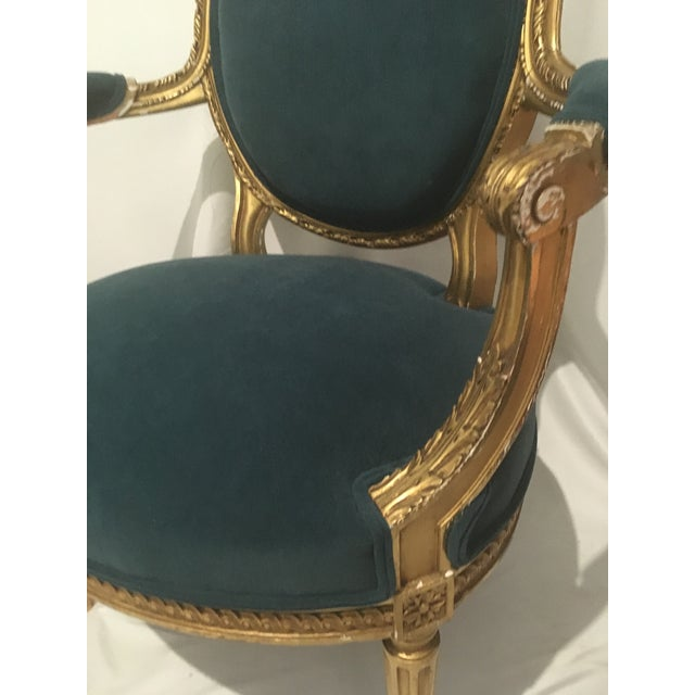 French 19th C. French Gilt Chairs - a Pair For Sale - Image 3 of 13
