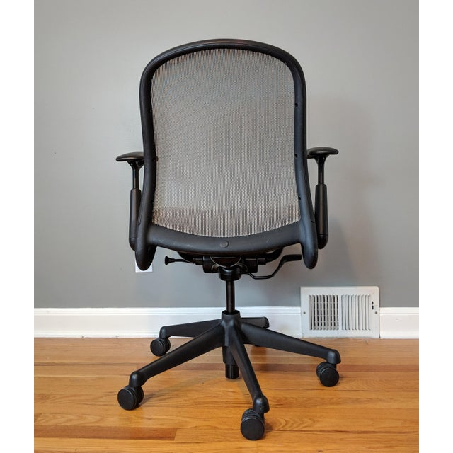 Knoll Contemporary Knoll Chadwick Black Office Desk Chair For Sale - Image 4 of 12
