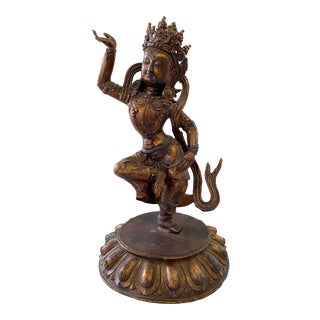Lg Old Indian Himalayan Iron Buddha For Sale