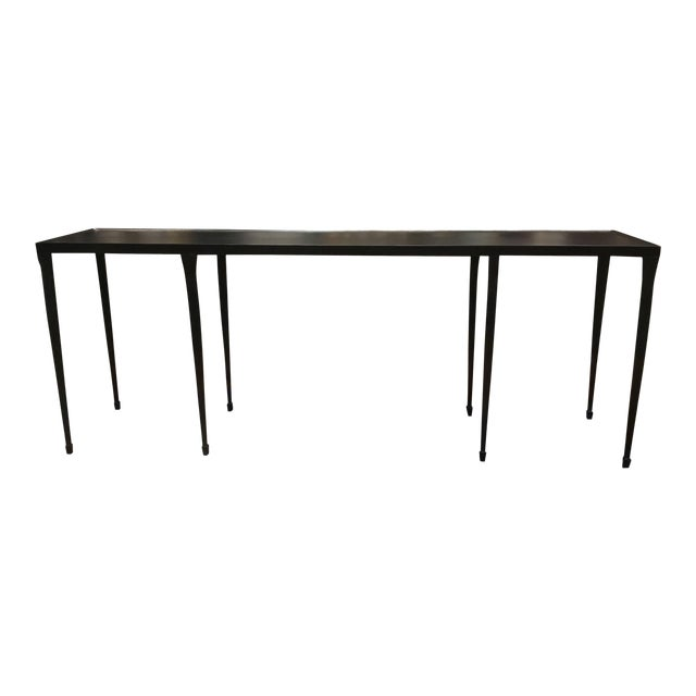 Bernhardt Industrial Modern Black Iron Holden Console Table For Sale