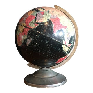 "1950's Replogle Black Ocean ""Starlight"" 12"" Globe For Sale"
