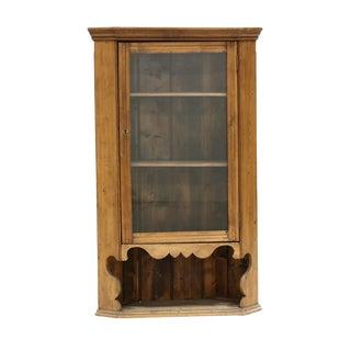 Vintage Hanging Pine Corner Cabinet For Sale