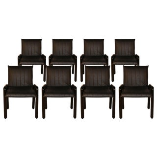 """Eight Guido Faleschini Italian """"Dilos"""" Dining Chairs by I4 Mariani for Pace For Sale"""