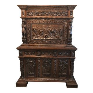 Antique Italian Bar and Cabinet For Sale