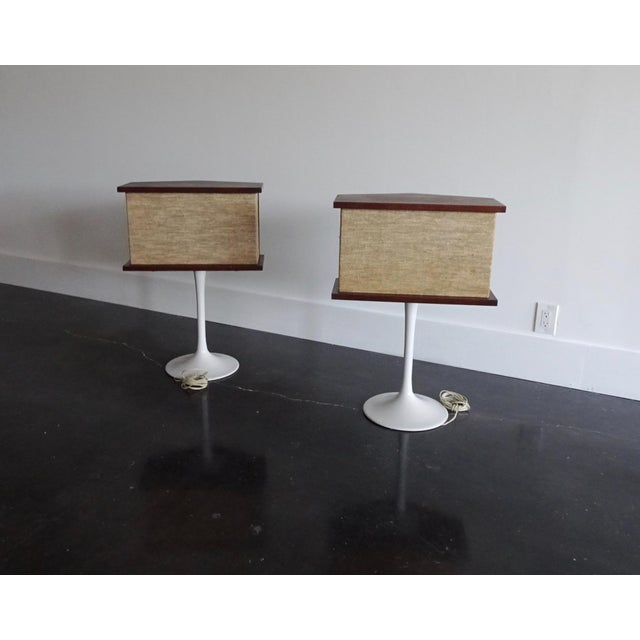 1970s Vintage Bose Speakers on Pedestal Tulip Bases - a Pair For Sale - Image 10 of 12