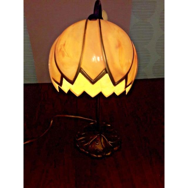 Mid-Century Faux Slag Tulip Desk Lamp - Image 4 of 7