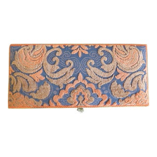1970s Vintage French Hand-Crafted Tapestry Covered Box For Sale