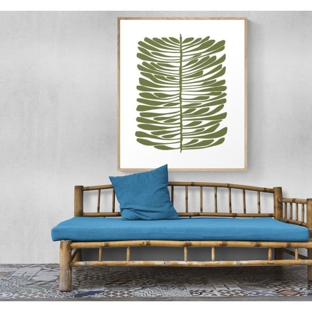 The beautiful pine trees of Kauai painted in olive green. Ready to hang on your wall on unframed 1.5in. thick stretched...