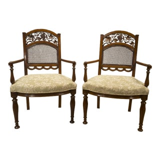 Solid Rosewood Lacerta Armchairs - A Pair For Sale
