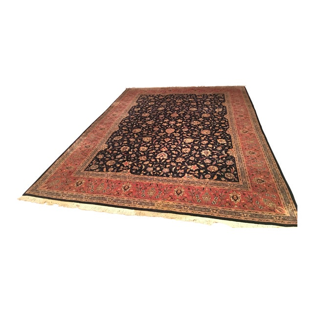 """Vintage Persian Area Rug - 9'x12'7"""" - Image 1 of 11"""