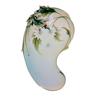 Vintage Franz Porcelain Daisy Tray For Sale