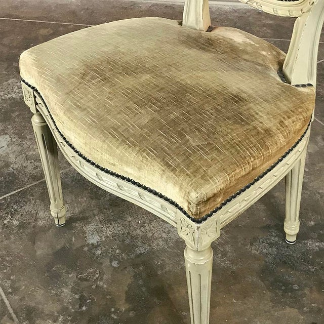 Set of 6 Antique French Painted Louis XVI Chairs For Sale In Baton Rouge - Image 6 of 13