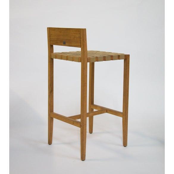 rusa teak bar stool chairish