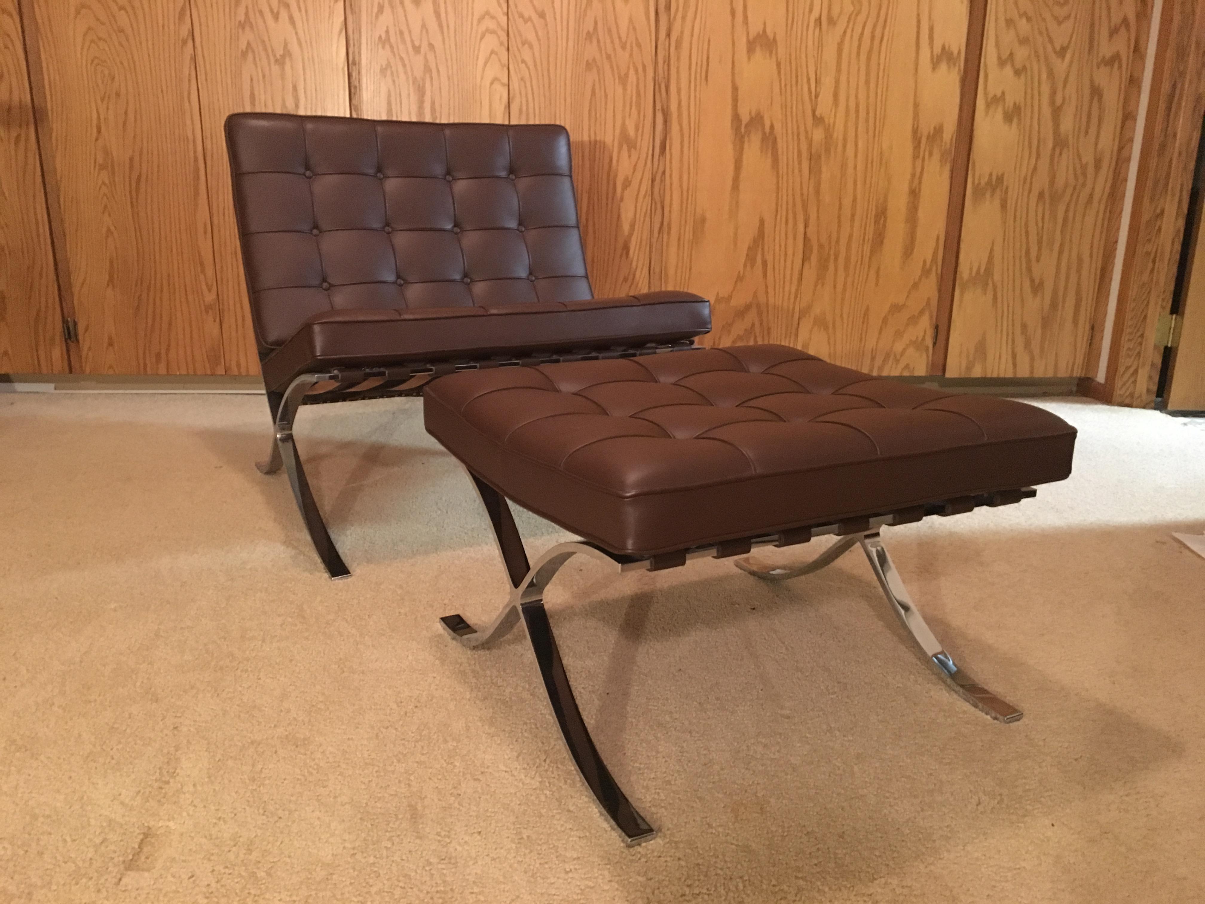 Knoll Barcelona Chair And Stool   Image 2 Of 8