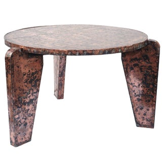 Contemporary Handmade Copper Table For Sale