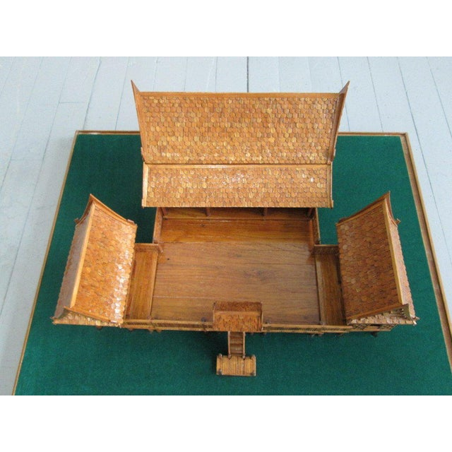 Architectural Model of a Japanese House in Glass Case For Sale In New York - Image 6 of 10