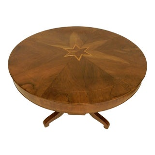 19th C. Northern European Walnut Center Hall Table For Sale