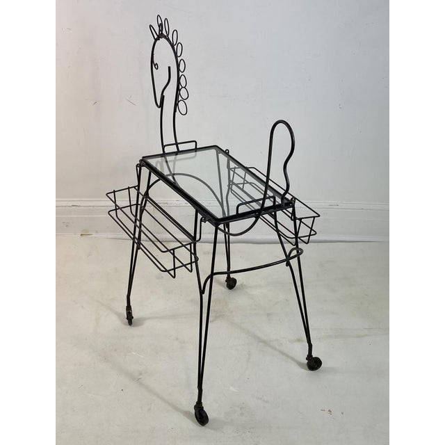 Frederick Weinberg Frederick Weinberg Horse Bar Cart For Sale - Image 4 of 9