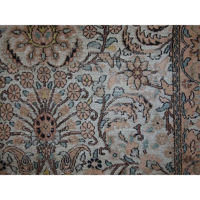 Vintage Silk Indian Indo-Tabriz Rug - 3′2″ × 5′3″ For Sale - Image 5 of 10