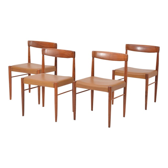 Rosewood Dining Chairs by h.w. Klein for Bramin, Set of Four For Sale