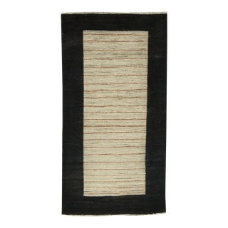 "Contemporary Hand Woven Rug - 3'3"" X 6'2"" For Sale"