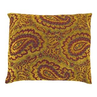 Vintage Paisley Tapestry Pillow For Sale