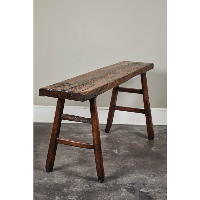 Brown 18th C. Chinese Poplar Elm Altar Table For Sale - Image 8 of 8
