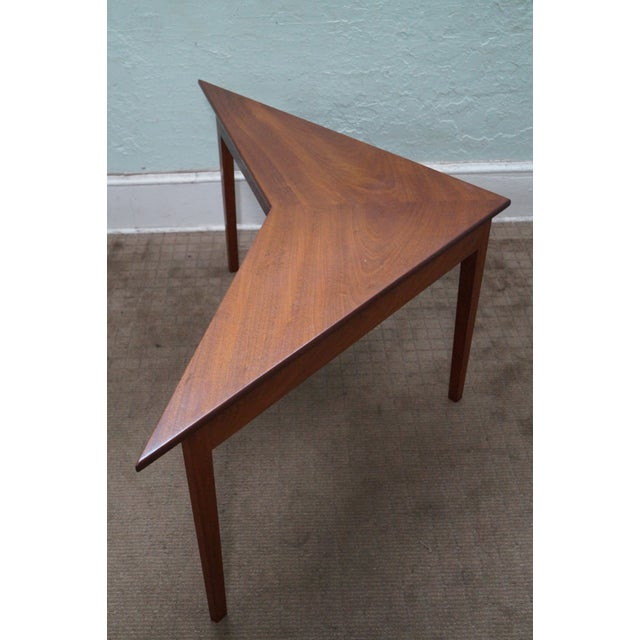Mid Century Modern Studio Made Triangle Low Table For Sale - Image 4 of 10