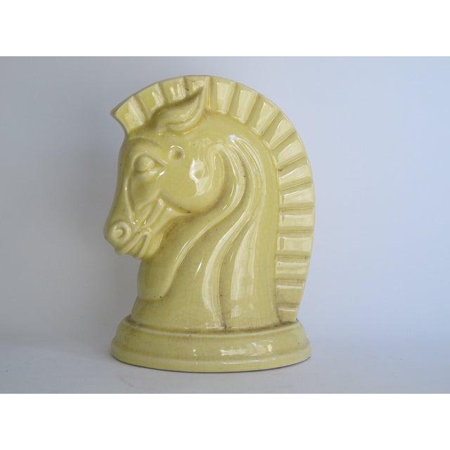 Yellow Art Deco Ceramic Horse Head - Image 2 of 8