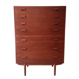 Børge Mogensen Teak Highboy Dresser For Sale