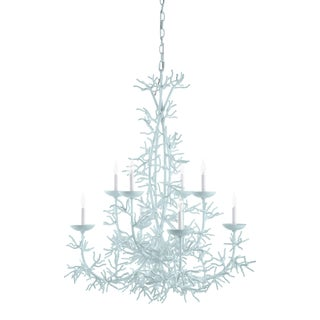 Calypso Chandelier, Palladian Blue For Sale