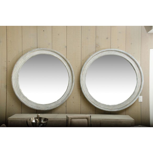 Pair of 19th Century Round Swedish Mirrors For Sale In New York - Image 6 of 6